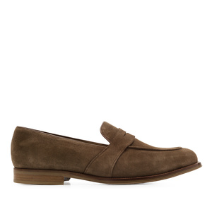 Men's Earth-coloured Split Leather Moccasins