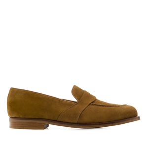 Men's Camel Split Leather Moccasins