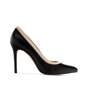 Pumps aus schwarzem Leder - MADE in SPAIN -
