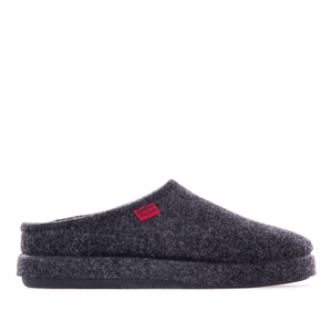 Very comfortable Navy Blue Felt Slippers with footbed