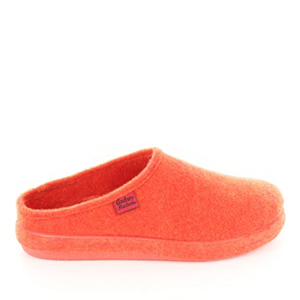 Very comfortable Orange Felt Slippers with footbed