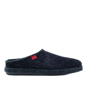 Very comfortable Blue Corduroy Slippers with footbed
