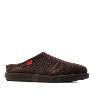 Very comfortable Brown Corduroy Slippers with footbed
