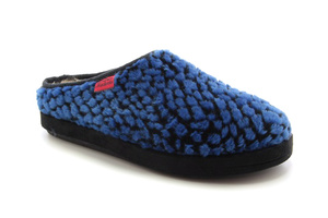 Blue Spotted Alpine Slippers