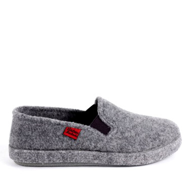 "Chaussons Alpino en feutre Gris ""Slip On"""