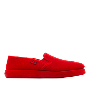 "Chaussons Alpino en feutre Rouge ""Slip On"""