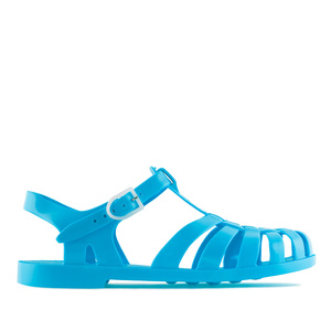 Cyan-Turquoise Plastic Water Sandals