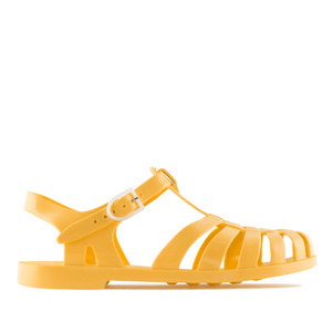 Dark Yellow Plastic Water Sandals