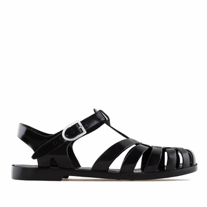 Black Plastic Water Sandals