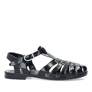 Sandalen Kunststoff Schwarz