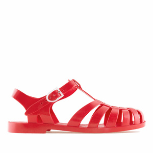 Red Plastic Water Sandals