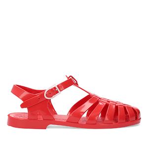 Sandalia Cangrejera Rojo