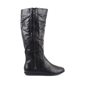 Botas Pull Negro con Cremallera lateral.