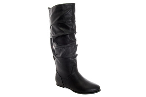 Buckled boots in Soft Black leather