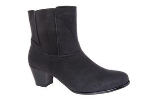 【大小】ショート ブーツ プル ブラック 小さいサイズ 大きいサイズ