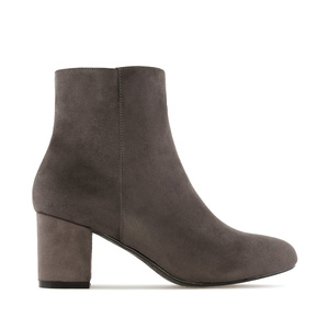 Ankle Boots in Grey Suede