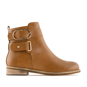 Stiefelette in Soft-Beige