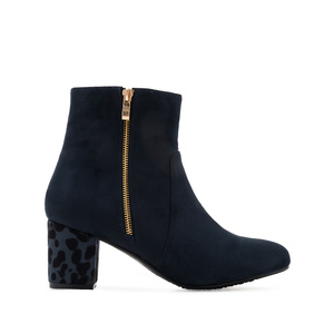 Bottines en Daim Bleu