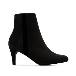 Stiletto Booties in Black Suede