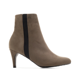 Stiletto Booties in Earth-coloured Suede