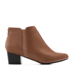 Fine-Chelsea Boots in Brown faux Leather