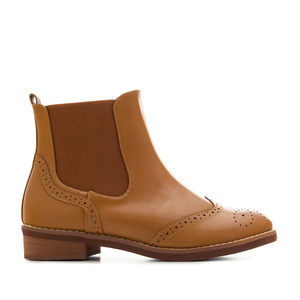 Bottines Chelsea en Soft Camel