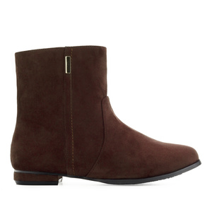 Bottines en Suèdine couleur Marron