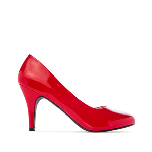 Elegant Red Patent Pumps