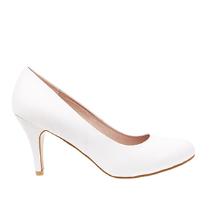 Classic White Satin Pumps