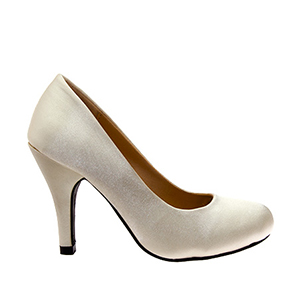 Elegant Pearl Satin High Heel Pumps