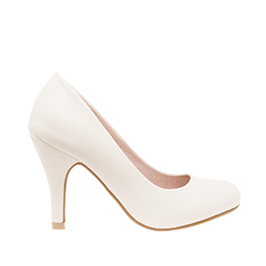 Classic Beige faux Soft-Leather Pumps