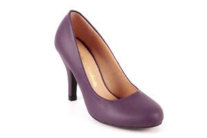 Zapatos de Salón Retro en Soft Morado y tacón Fino de 9,5 cm.
