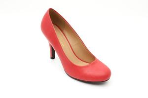Zapatos de Salón Retro en Soft Rojo y tacón Fino de 9,5 cm.