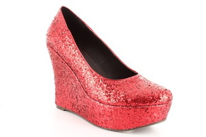 Red Glitter Wedges