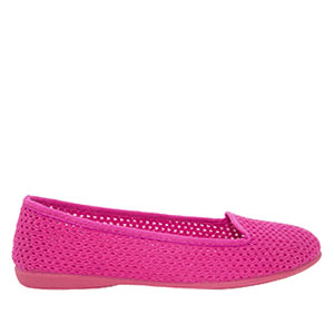 Very flexible Pink Mesh Slip-On Flat Shoes.