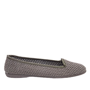 Very flexible Green Mesh Slip-On Flat Shoes.