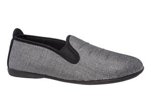 Papuče - patofne, biserno srebrne