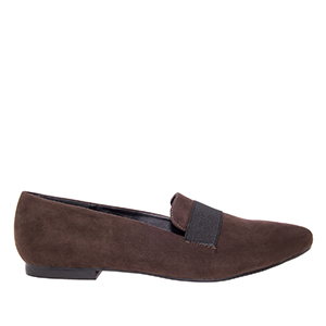 Slipper elastico Ante Marron