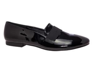 Slipper elastyczny Charol Czarne