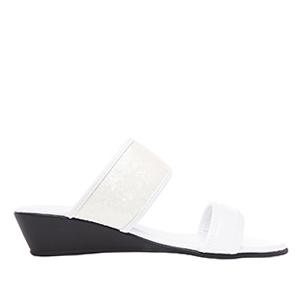 Papuče sa šljokicama, bele
