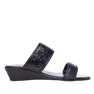 Sandalias Soft Negro Brillo