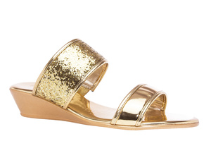 Sandalias Soft Oro Brillo