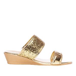 Papuče sa šljokicama, zlatne