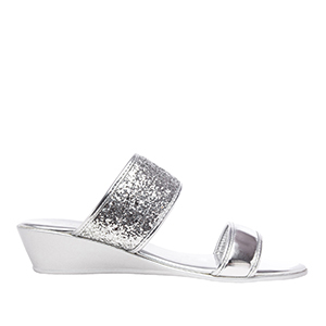 Sandalias Soft Plata Brillo