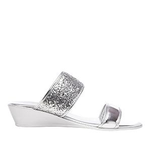 Papuče sa šljokicama, srebrne