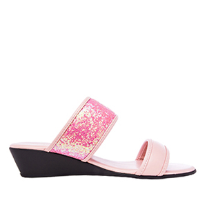 Papuče sa šljokicama, svetlo roze