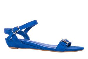 Sininen mokkajäljitelmä sandaali