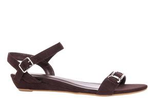Ruskea mokkajäljitelmä sandaali