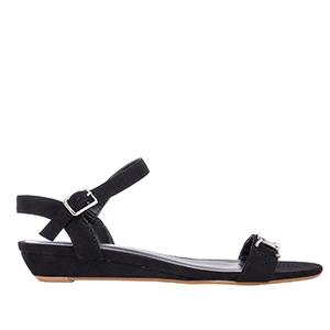 Klasične sandale, antilop crne