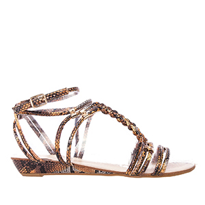 Sandalias Serpiente Multi Marron
